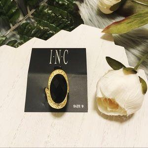 INC Oval Crystal Pavé Ring